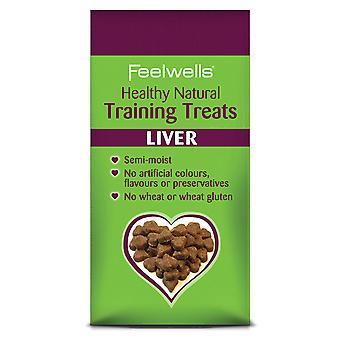 Feelwells sund fysisk uddannelse hund behandler lever 115g (pakke med 7)