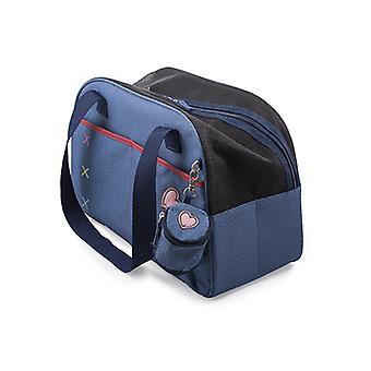 Pet Carry Bag & Treat Pouch Blue Denim 45x28cm