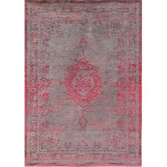 Contemporary Distressed Pink Flatweave Rug - Louis De Poortere