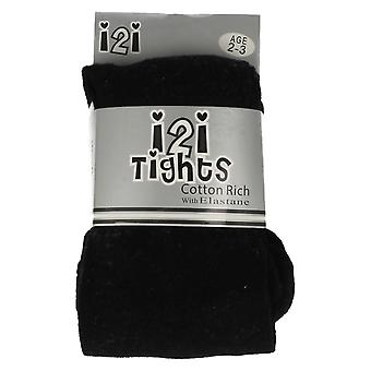 Infant flickor i2i bomull rika Tights med elastan