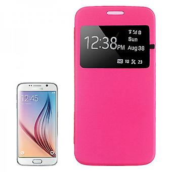 Smart dekke vinduet rosa for Samsung Galaxy S6 G920 G920F