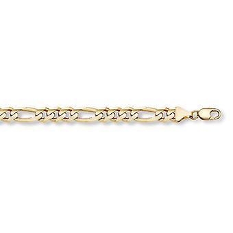 Correa con eslabones de Figaro oro de 14 K (10mm)