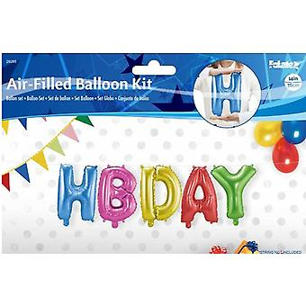 5 foil balloon set HBDAY happy birthday letter Garland 36 cm high