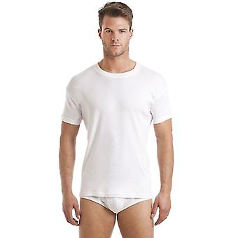 Haigman Haigman Three Pack White Crew Neck T-Shirt