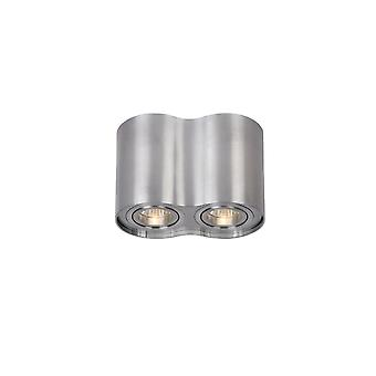 Lucide TUBE Spot 2xGU10 Excl Round Alu