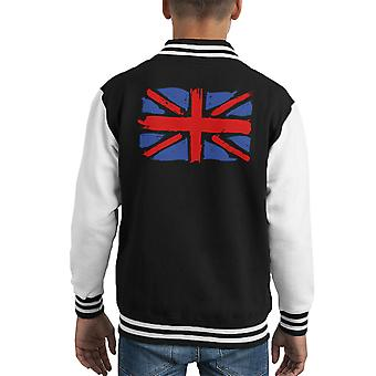 Mon Union Jack Varsity Jacket de Kid