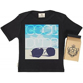 Spoilt Rotten Cool Dude Babys T-Shirt 100% Organic In Milk Carton