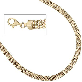 Necklace necklace 925 sterling silver gold plated 45 cm lobster clasp