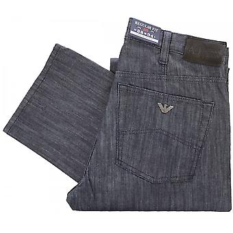 Armani Jeans V6j31 Fit Regular sorte Jeans