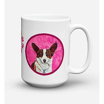 Corgi  Dishwasher Safe Microwavable Ceramic Coffee Mug 15 ounce