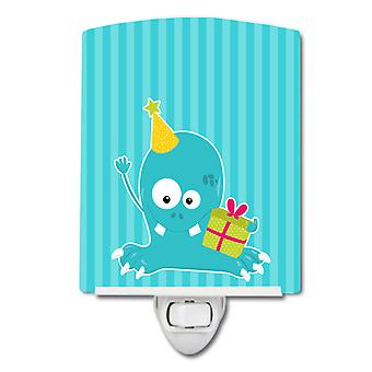Carolines Treasures  BB8932CNL Birthday Monster Blue Ceramic Night Light