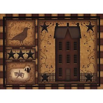 Primitive Shadowbox Poster Print by Carrie Knoff (16 x 12)