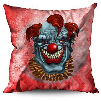 Creepy Horror Clown Scary Linen Cushion Creepy Horror Clown Scary | Wellcoda