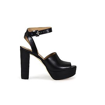 MICHAEL KORS TRINA PLATFORM BLACK SANDALS
