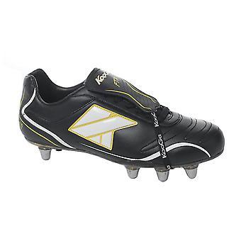 Bota de rugby KOOGA FTX duro bajo corte de dedo del pie [negro]