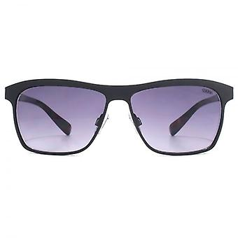 SUUNA Boston Flat Sheet Brow Detail Sunglasses In Matte Black