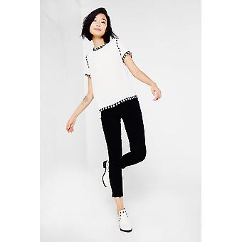 Cubic T Shirt With Fringe Detail
