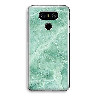 LG G6 Transparent Case (Soft) - Green marble