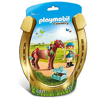 Playmobil país maquinilla con mariposa Pony 6971