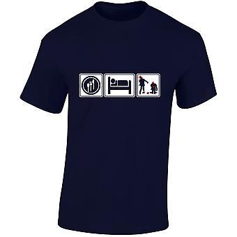 Comer dormir Zombie para hombre camiseta 10 colores (S-3XL) por swagwear