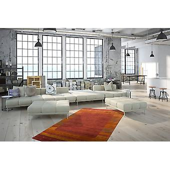 Gabbeh carpets flat pile Inca border tight soft hand knotted carpet Red