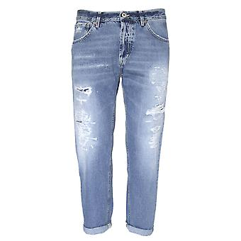 Dondup mens UP434DF164UP08G Blau bomull jeans