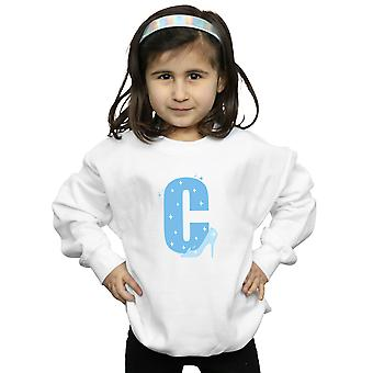 Disney Girls alfabeto C é para moletom Cinderela
