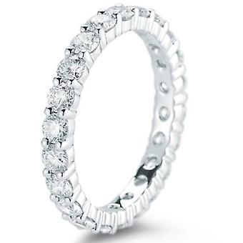 950 Platina 2ct Diamond Eternity trouwring