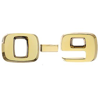 Luxbling car chrome 3D number - gold 0-9