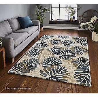 Tasmanië crème blauw tapijt