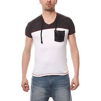RUSTY NEAL T-Shirt one pocket mens white