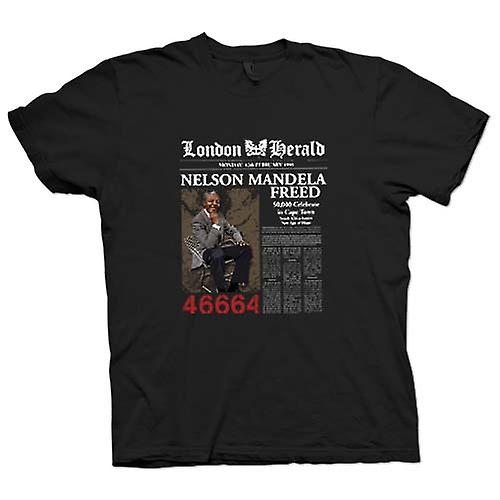 Kinder-T-Shirt - Nelson Mandela Freed 46664 - ANC - Freiheit