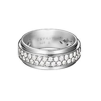ESPRIT women's ring silver zirconia modern form Glam ESRG92374A1