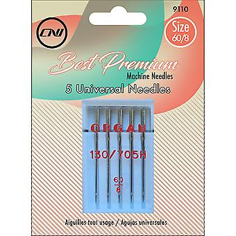 Universal Sewing Machine Needles 5/Pkg-Size 60/8
