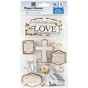 Paper House 3D Stickers-Greatest Is Love