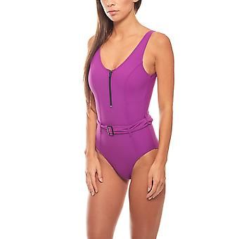 Swimsuit cover up belly C Cup one piece purple heine