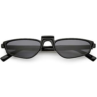 Geometrisk rektangel solglasögon upp näsbrygga neutralt färgad lins 52mm
