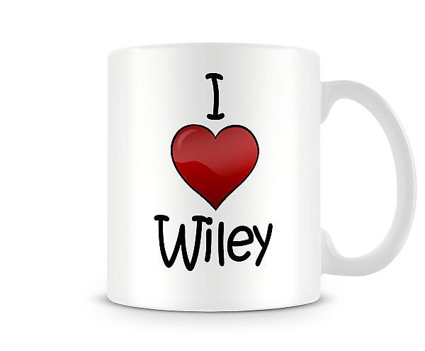 Jag älskar Wiley tryckta mugg