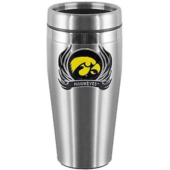 Iowa Hawkeyes NCAA Stainless Steel Flame Logo Travel Mug