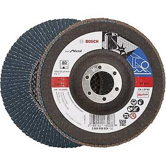 Flap disc - 125 mm, 22,23 mm, 80 Bosch Accessories 2608606924 Diameter 125 mm