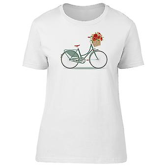 Green Bicycle With Roses Tee Women's -Image by Shutterstock