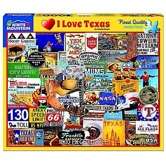 I Love Texas 1000 Piece Jigsaw Puzzle 760Mm X 610Mm