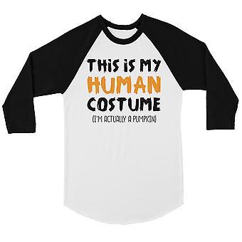 This Is My Human Costume Mens Baseball Shirt