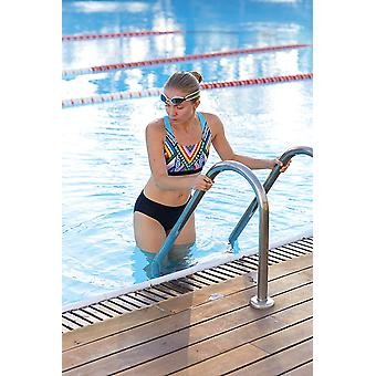 Zoggs Breeze Muscle Two Piece Bikini Set in Multi Colour with a Shelf Bra - Chlorine Proof