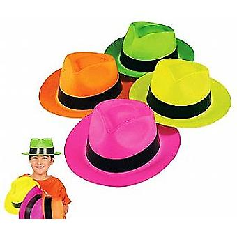 12 Neon Gangster or Safari Hats | Kids Birthday Party Hats