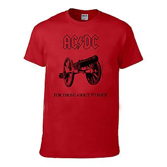 Ac/Dc  For Those About To Rock  Red Mens T-Shirt