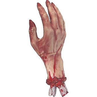 Cortado mano sangrienta.