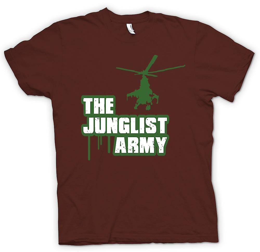 Mens t-shirt - l'esercito Junglist - Drum n Bass