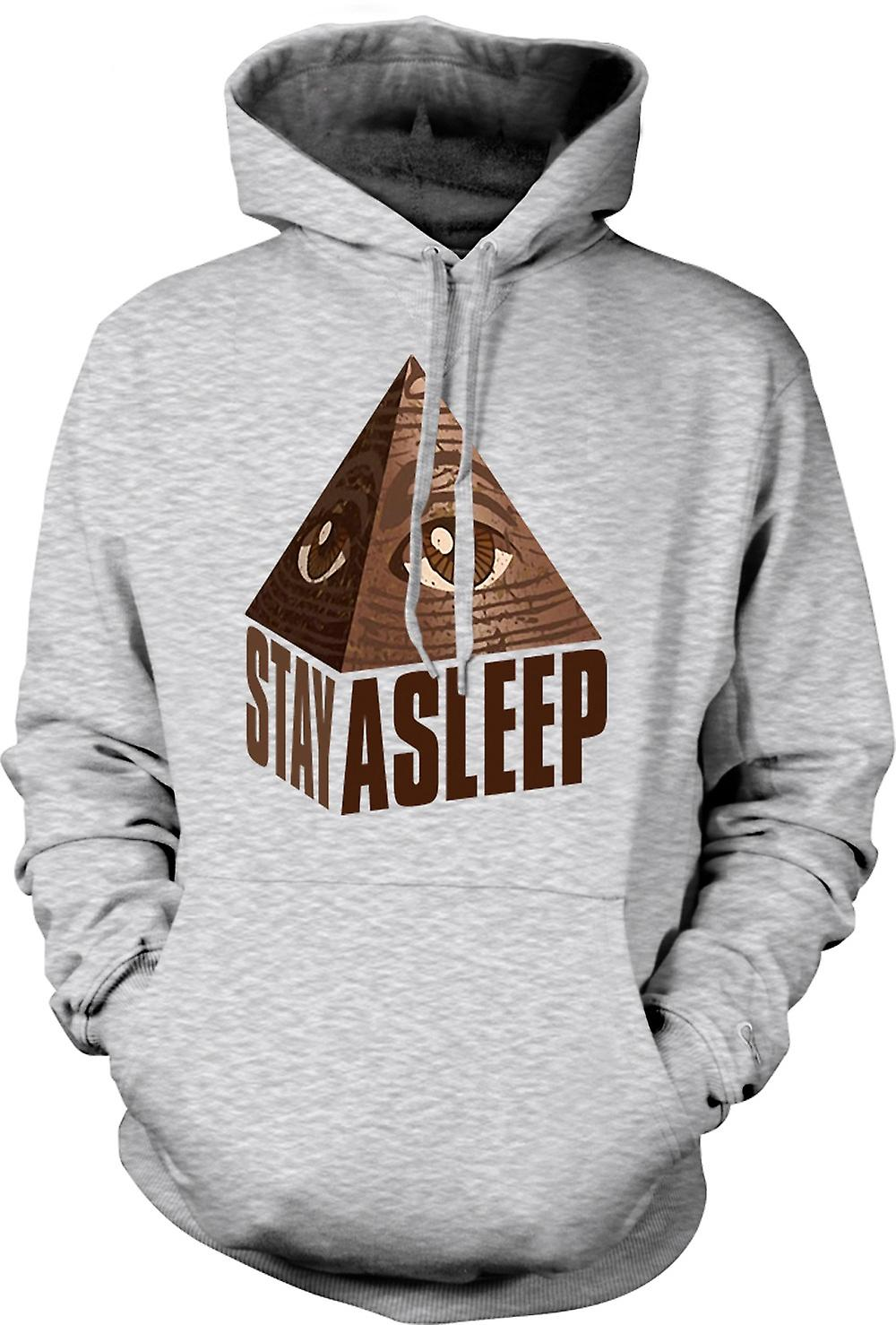 Mens Hoodie - Illuminati Stay Asleep