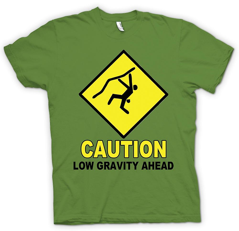 Mens T-shirt - Climbing Low Gravity Ahead - Funny